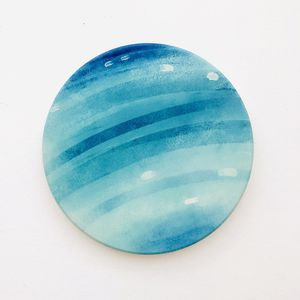 Planet Uranus blue round ceramic coaster 1 piece, 4 inches for Sale in Daly City, CA