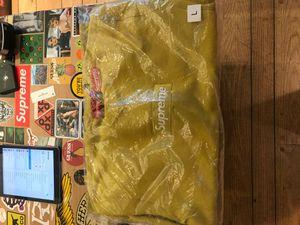 Supreme Box Logo Crewneck FW18 Mustard Size Large for Sale in Portland, OR