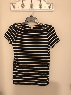Michael Kors black and white stripe top for Sale in Cecil-Bishop, PA