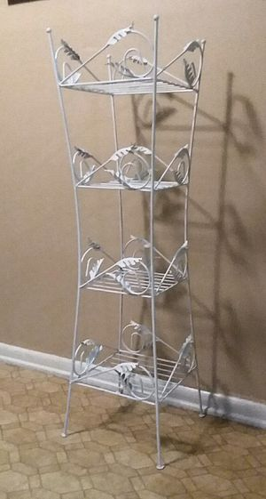 (Wrought iron) Four Shelf Stand (Excellent Used Condition) for Sale in Center Point, AL