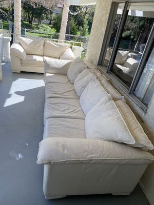 3 off white leather Italian sofas for Sale in Hacienda Heights, CA