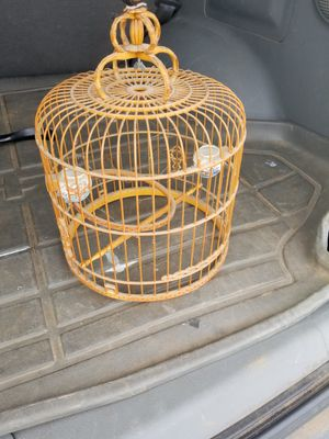 Antique Bamboo birdcage w/bird feeders for Sale in Oakley, CA
