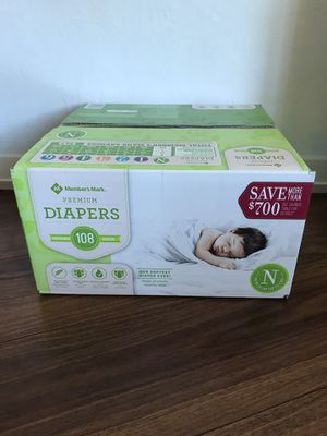 Members Mark Newborn Diapers for Sale in Santa Clara, CA