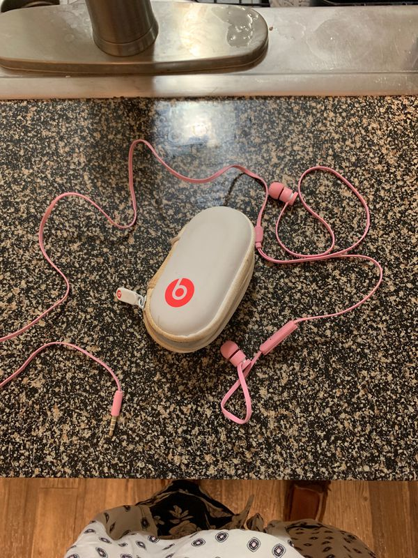 Pink BEATS headphones