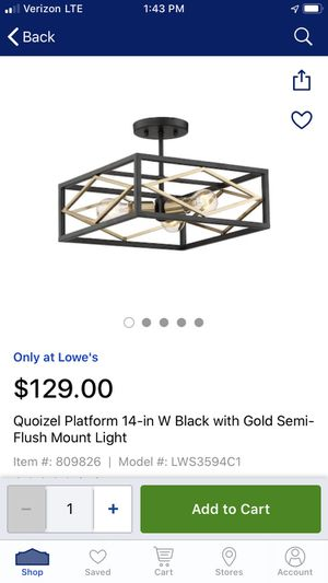 Quoizel Light Fixture for Sale in Tampa, FL