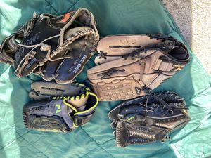 Adult baseball gloves Spalding Easton Mizuno McGregor for Sale in Cerritos, CA