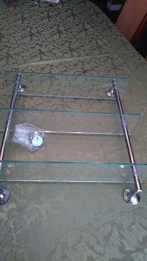 GLASS WALL SHELVES UNIT for Sale in Riverside, CA