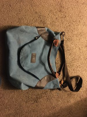 Baby blue canvas messenger bag for Sale in Bakersfield, CA