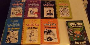 7 books of Diary of a wimpy kid for Sale in Covina, CA