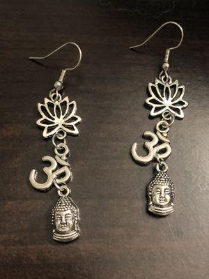 Handmade zen Buddha lotus earrings for Sale in Modesto, CA