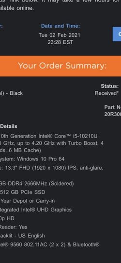 Brand new ThinkPad core 13 Inch for Sale in Brooklyn,  NY
