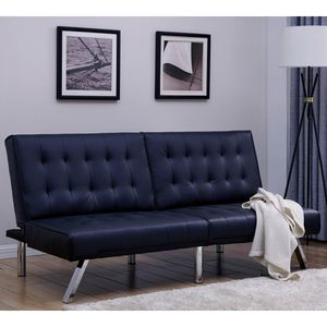 Faux leather futon for Sale in Charlotte, NC