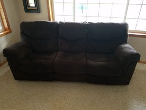 Microfiber reclining couch for Sale in Seattle, WA