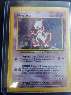 1995 mewtwo pokemon card original gold skeeve for Sale in Austin, TX