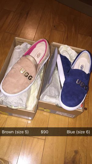 Used, Brown and tan Ugg loafers for Sale for sale  Lithonia, GA