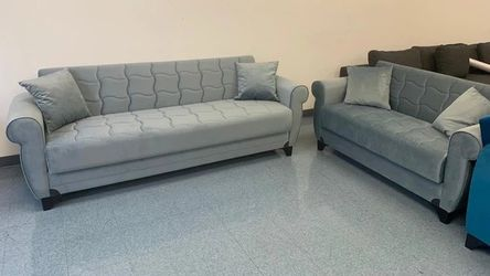 Blossom Gray Sleeper Sofa & Loveseat *** for Sale in Round Rock,  TX