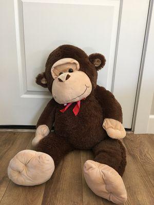 Giant stuffed animal monkey for Sale in Vancouver, WA