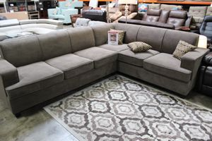 2 PC Sleeper Sectional Sofa **ONE LEFT**, Charcoal, D6174 for Sale in Santa Fe Springs, CA