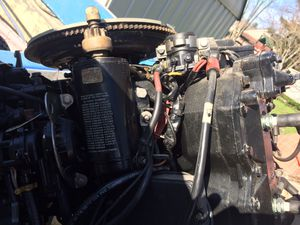 """6M3566 Used 1988 Johnson J120TLCCA 120HP 2-Stroke Outboard Boat Motor 20"""" Shaft for Sale in Broadview Heights, OH"""