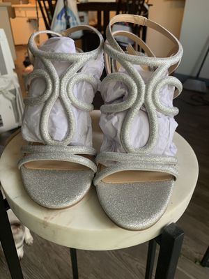 Silver chunky heels. Women 8.5. Brand New for Sale in Orange, CA