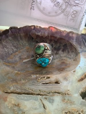 Turquoise Native American southwestern ring silver for Sale in Ingleside, IL