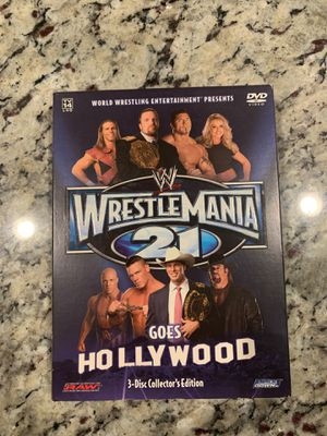 Wrestle Mania 21 3 Disc Set for Sale in Humble, TX
