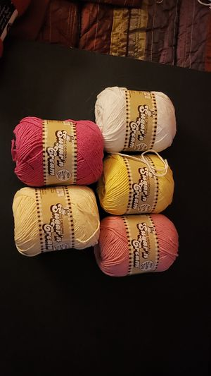 Lot of sugar and cream yarn for Sale in Newport News, VA