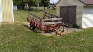 Red and black utility trailer 4 by 8 for Sale in Owosso, MI