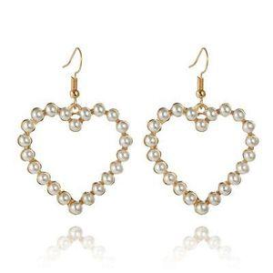 Heart shape pearl earrings for Sale in Arlington, VA