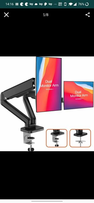 Adjustable Dual Monitor Arms - New unused for Sale in Spring, TX