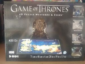 Game of thrones 4D puzzle for Sale in San Bernardino, CA
