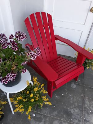 RED WHITE AND BLUE ADIRONDACK CHAIRS $80 EACH for Sale in San Diego, CA