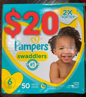 Pampers Swaddled size 6 for Sale in Long Beach, CA
