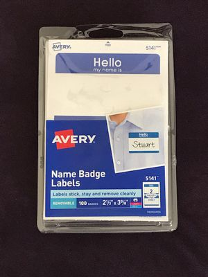Brand New Avery 100 hello my name is removable Name Badge Labels for Sale in San Jose, CA