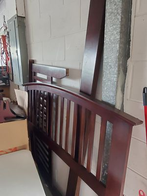 Wooden bed frame for Sale in Tampa, FL