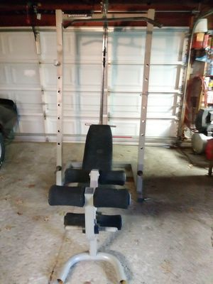 Weight bench squat rack lat pull for Sale in Willowick, OH