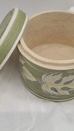 New Hand Painted-Round Wooden Box for Sale in Buena Park,  CA