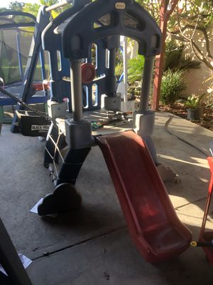 Trampoline with swing. For $60 and slide with swing set house for $60 for Sale in South Gate, CA