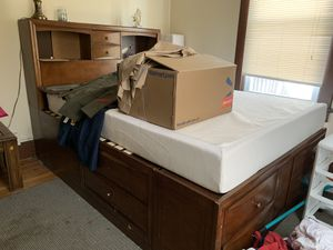 Queen size bed frame an mattress for Sale in Staunton, VA
