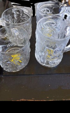Batman Forever McDonald's glass mugs 1995 collection of Four for Sale in Pasadena, TX