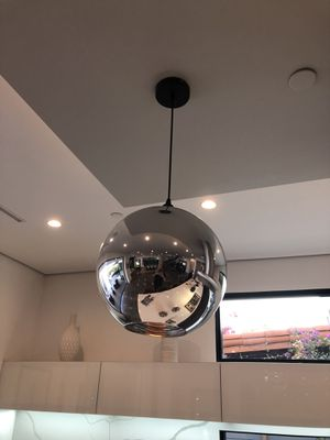 Chrome glass pendent lighting fixture new in box for Sale in West Hollywood, CA