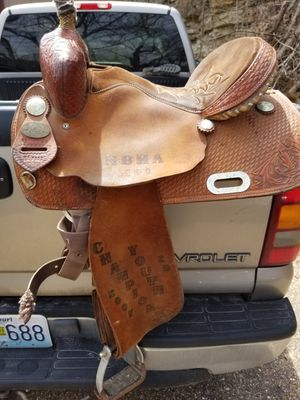 15 in barrel saddle for Sale in Crocker, MO