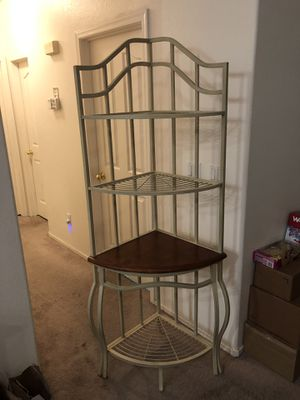 Bakers rack corner unit for Sale in Las Vegas, NV