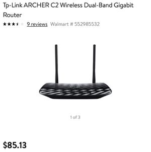 Tp-Link Router - Archer C2 for Sale in Wormleysburg, PA