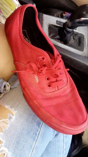 Vans red men's for Sale in Barling, AR