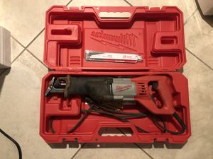 Milwaukee SawZall with case for Sale in Oceanside, CA