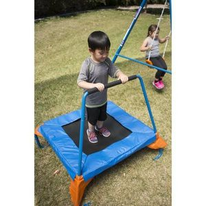 FITNESS REALITY KIDS Fun Series Metal Swing Set with Trampoline and Ladder Climber for Sale in Houston, TX