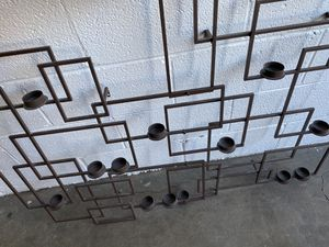 Crate and Barrel metal candlelight wall sculpture for Sale in Washington, DC