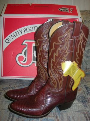 Brand new Justin exotic lizard cowboy boots for Sale in Rockville, MD