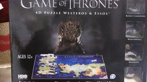 Game of Thrones 4D Puzzles of Westerns & Essos for Sale in Houston, TX